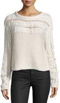 Ramy Brook Long-Sleeve Knit Jessica Sweater, Ivory