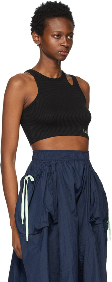 Thumbnail for your product : Sjyp Black Crop Tank Top