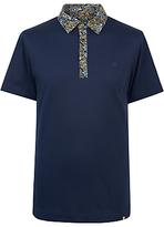 Pretty Green Stretford Paisley Polo Shirt, Navy