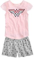 DC Comics Wonder Woman 2-Pc. Graphic T-Shirt & Shorts Set, Toddler & Little Girls (2T-6X)