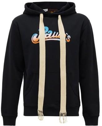Loewe Paula's Ibiza - Logo-print Cotton Hooded Sweatshirt - Mens - Black