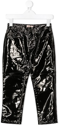 No21 Kids Varnished Effect Trousers
