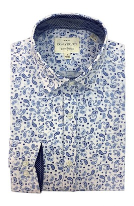 Construct Paisley Print Long Sleeve 4-Way Stretch Slim Fit Dress Shirt