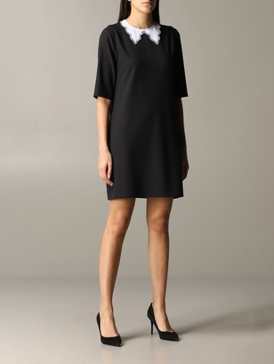 Boutique Moschino Dress With Embroidered Collar