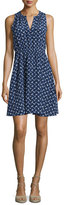 Rebecca Taylor Sleeveless Silk Crisscross Dress, Indigo