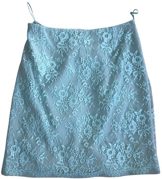 Gianni Versace Turquoise Wool Skirt for Women Vintage