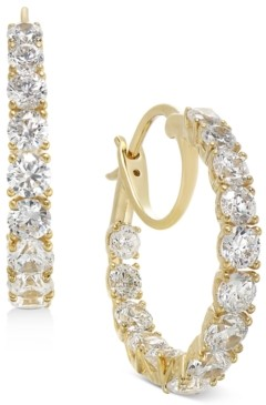 "Eliot Danori Small Cubic Zirconia Hoop Earrings, 0.88"", Created for Macy's"