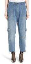 Robert Rodriguez Women's Crop Drop Crotch Cargo Jeans