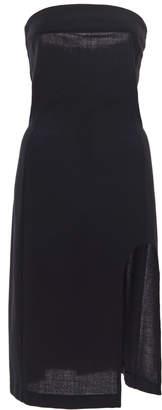 Ann Demeulemeester Cutout Knit Strapless Midi Dress