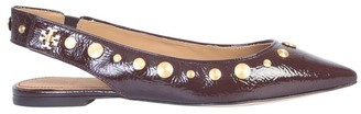 Tory Burch Kira Studded Slingback Flat Shoes