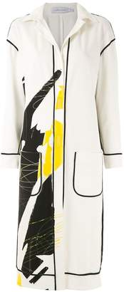M·A·C Mara Mac printed overcoat
