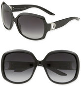 Dior 'Evening'  Logo Temple Oversized Square Sunglasses
