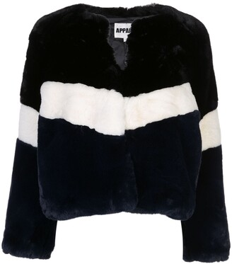 Apparis Brigitte panelled faux-fur jacket