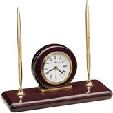 Howard Miller 613-588 Rosewood Desk Set Table Clock by