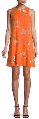Calvin Klein Floral Chiffon Shift Dress