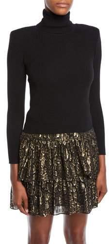 Addison Long-Sleeve Wool Turtleneck Sweater