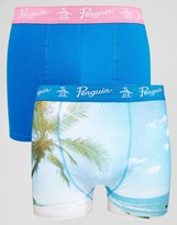 Original Penguin 2 Pack Trunks With Tropical Print