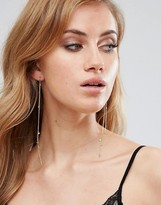 Orelia Star & Crystal Long Drape Earrings
