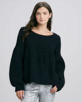 Faith Connexion Big-Gauge Sweater, Black