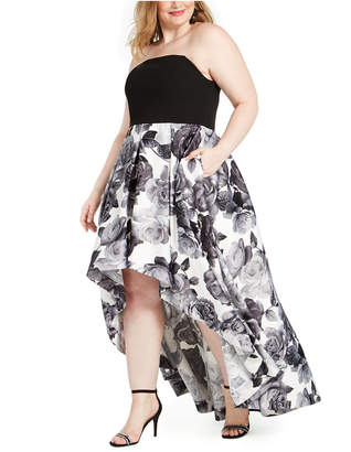 Speechless Trendy Plus Size Colorblocked High-Low Dress