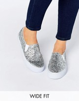 Asos DULCIE Wide Fit Slip On Sneakers