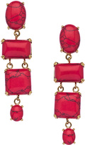 Gottex Coral Sunset Cove Drop Earrings