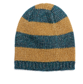 Gucci Knitted metallic striped beanie hat