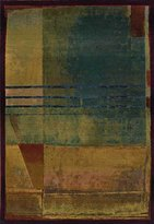 """Sphinx Kharma Area Rug 890X4 Red Squares Abstract 2' 3"""" x 4' 5"""" Rectangle"""