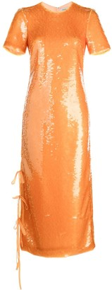 Prabal Gurung Sequined Tie-Fastening Dress