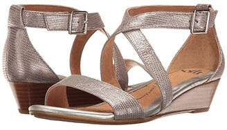 Sofft Innis (Silver Atlas) Women's Wedge Shoes