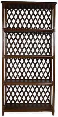 David Francis Furniture Casablanca Etagere - Coffee Brown