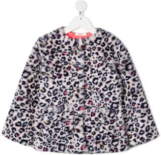 Billieblush Faux-Fur Leopard-Print Coat