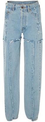 Vetements Distressed Mid-rise Straight-leg Jeans