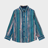 Paul Smith Boys' 7+ Light-Trail Print 'Malvin' Shirt