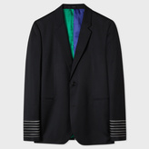Paul Smith Men's Slim-Fit Black Wool Blazer With Cuff-Piping
