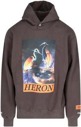 Heron Preston Graphic Print Hooded Sweatshirt