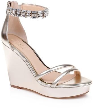 Badgley Mischka Kathleen Ankle Strap Wedge Sandal