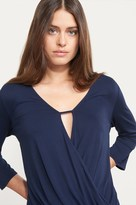 Dynamite Long Sleeve Wrap Top