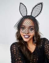 Aldo Halloween Bunny Ear Headband With Dot Veil
