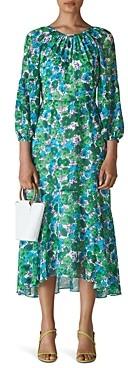 Whistles Alva Flora Print Midi Dress