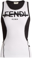 Fendi Mesh stretch-fabric tank top