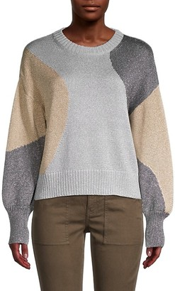 Cinq à Sept Colorblock Pullover Sweater
