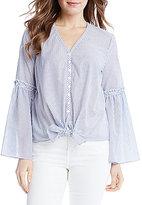 Karen Kane Flare Sleeve Stripe Top