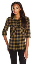 Sanctuary Women's Plaid Boyfriend Shirt