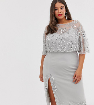 Lovedrobe Luxe embellished midi dress with split