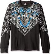 Southpole Men's Long Sleeve Graphic Thermal with Logo and Top Geometric Prints