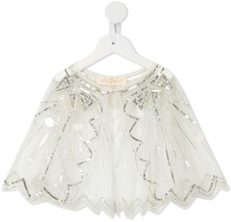 Tutu Du Monde Radiant sequin-embellished cape