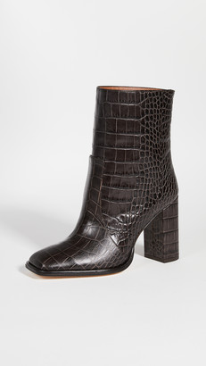 Paris Texas Moc Embossed Croco Squared Booties