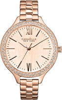 JCPenney CARAVELLE, NEW YORK Caravelle New York Womens Rose-Tone Dial & Bracelet Watch 44L125