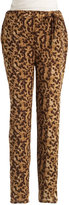 VINCE CAMUTO Leopard Print Relaxed-Fit Pants